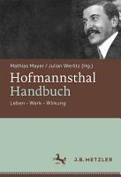 Hofmannsthal Handbuch PDF