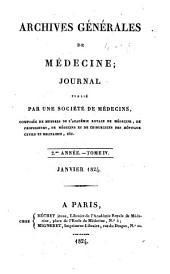 Archives générales de médecine: Volume4