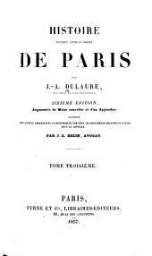 Histoire physique: civile et morale de Paris, Volume3