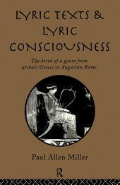 Lyric Texts & Consciousness