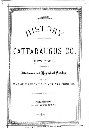 History of Cattaraugus County  New York PDF