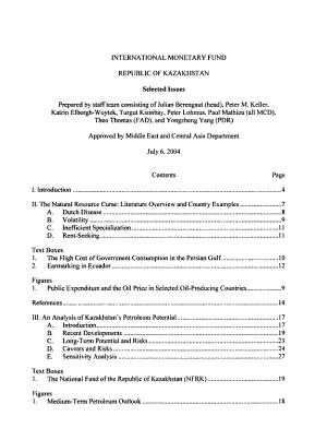 Republic of Kazakhstan  Selected Issues PDF
