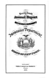 Annual Report of the Superintendent of Insurance to the New York Legislature: 1882, Volume 1882