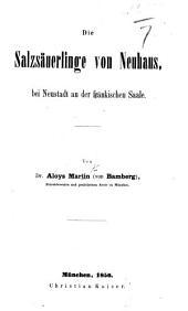 Die Salzsäuerlinge von Neuhaus bei Neustadt an der frankischen Saale