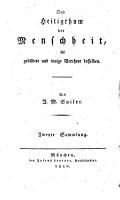 Das Heiligthum der Menschheit f  r gebildete und innige Verehrer desselben     PDF
