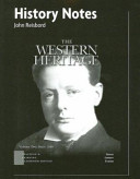 History Notes for the Western Heritage  Volume 2 Book