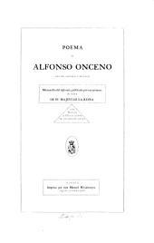 Poema de Alfonso Onceno, rey de Castillo y de Leon: manuscrito del siglo XIV