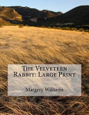 The Velveteen Rabbit Large Print Book PDF
