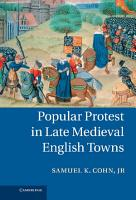 Popular Protest in Late Medieval English Towns PDF