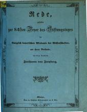 Rede, gehalten zur 84sten Feyer des Stiftungstages der königlich bayerischen Akademie der Wissenschaften