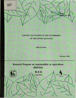 Coffee Cultivation in the Watershed of the River Aranjuez PDF