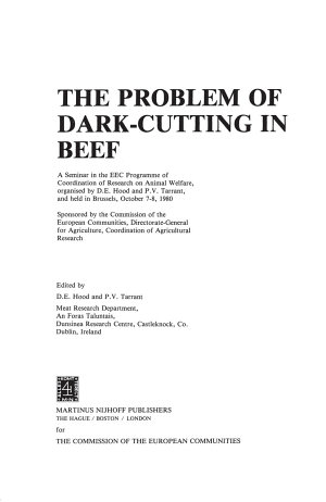 The Problem of Dark Cutting in Beef