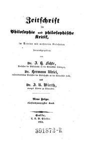 Zeitschrift für Philosophie und philosophische Kritik: Band 25