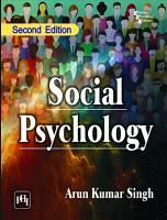 SOCIAL PSYCHOLOGY  Second Edition PDF