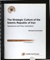 The Strategic Culture of the Islamic Republic of Iran PDF
