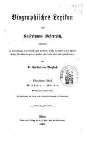 Biographisches Lexicon des Kaiserthums Österreich, enthaltend die Lebensskizzen der denkwürdigen Personen, welche 1750 bis 1850 im Kaiserstaate und in seinen Kronländern ... gelebt haben: Band 30