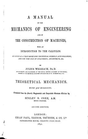 A Manual of the Mechanics of Engineering and of the Construction of Machines PDF