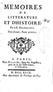 Memoires de litterature et d'histoire: Volume7