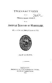 Transactions of the ... Session of the American Institute of Homoeopathy: Volume 23