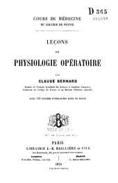 Leçons de physiologie opératoire