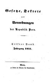 Gesetze, Dekrete und Verordnungen des Kantons Bern: 1841