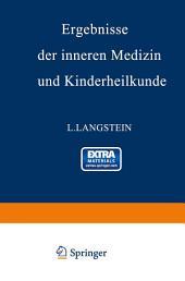 Ergebnisse der inneren Medizin und Kinderheilkunde: Sechsundzwanzigster Band