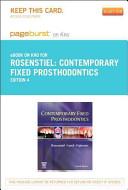 Contemporary Fixed Prosthodontics   Pageburst E Book on Kno  Retail Access Card  PDF
