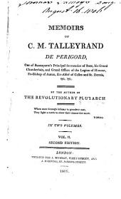 Memoirs of C.M. Talleyrand de Périgord: Volume 2
