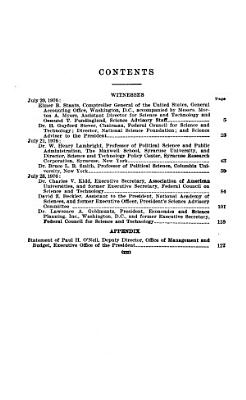 Interagency Coordination of Federal Scientific Research and Development