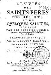 Les vies des saints pères des déserts et de quelques saintes