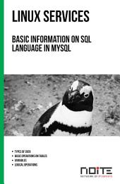 Basic information on SQL language in MySQL: Linux Services. AL3-052