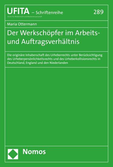 Der Werksch  pfer im Arbeits  und Auftragsverh  ltnis PDF