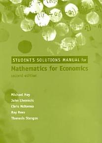 Mathematics for Economics PDF