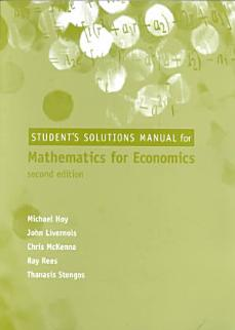 Mathematics for Economics Book