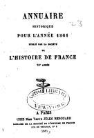 Soci  t   de l histoire de France PDF