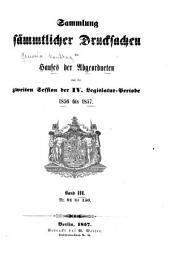 Sammlung der drucksachen ...: Band 3