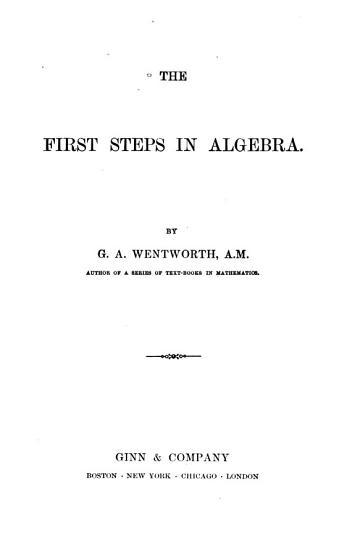 The First Steps in Algebra PDF
