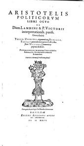 Aristotelis politicorum libri octo: Pythagoreorum veterum fragmenta politica