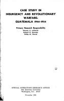 Case Study in Insurgency and Revolutionary Warfare PDF