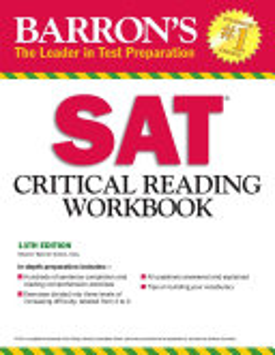 Barron s SAT Critical Reading Workbook Book