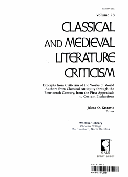 Classical and Medieval Literature Criticism PDF