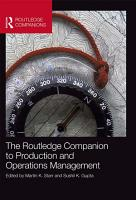 The Routledge Companion to Production and Operations Management PDF