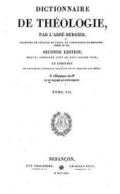 Dictionnaire de theologie: Volume7