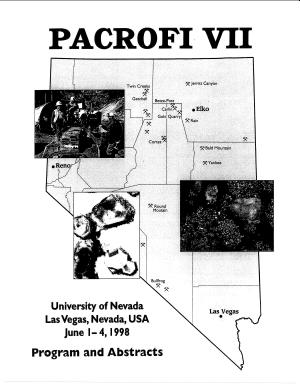 OF1998-04: PACROFI VII, Pan-American Conference on Research on Fluid Inclusions, Program and Abstracts (University of Nevada, Las Vegas, Department of Geoscience, Division of Continuing Education, Las Vegas, Nevada, USA, June 1-4, 1998)