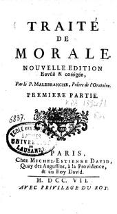 Traité de morale: Volume1