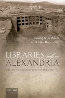 Libraries before Alexandria PDF