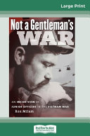 Not a Gentleman's War (16pt Large Print Edition)