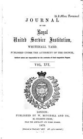 Journal of the Royal United Service Institution: Volume 16