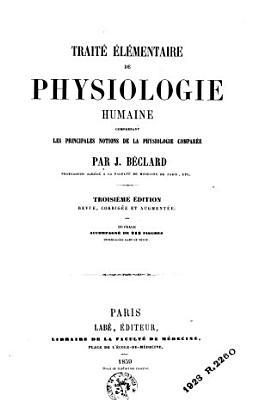 Trait     l  mentaire de physiologie humaine PDF