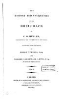 The History and Antiquities of the Doric Race PDF
